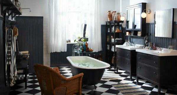 Black Bathroom Design Ideas 66