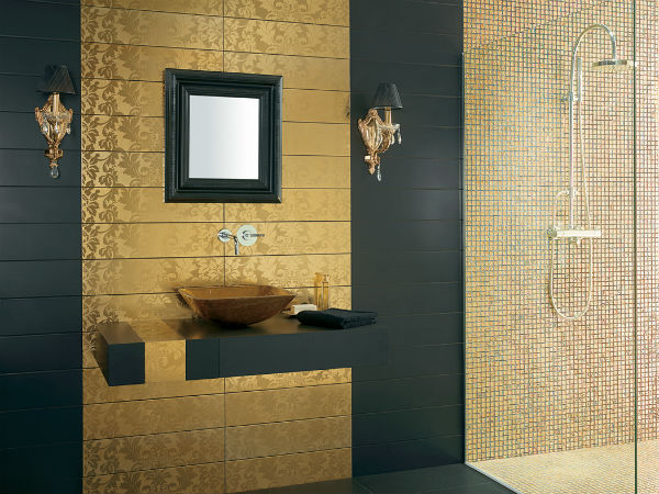 Trendy Bathroom Designs in Gold Trendy Bathroom Designs in Gold 7