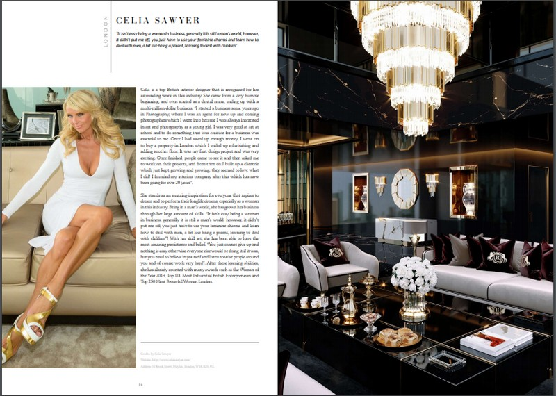 Ebooks: Celia Sawyer download Download The Magnificent '100 Inspiring Designers & Architects Ebook' for FREE! Download Now The Amazing Ebook of The Best 25 Interior Designers From London 2