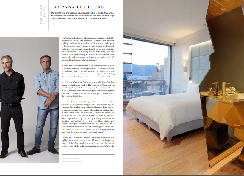 Ebook: Campana Brothers download Download The Magnificent '100 Inspiring Designers & Architects Ebook' for FREE! top100campana